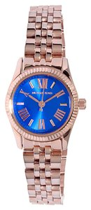 Michael Kors Michael Kors Blue Dial Rose Tone Stainless Steel Ladies Watch MK3272