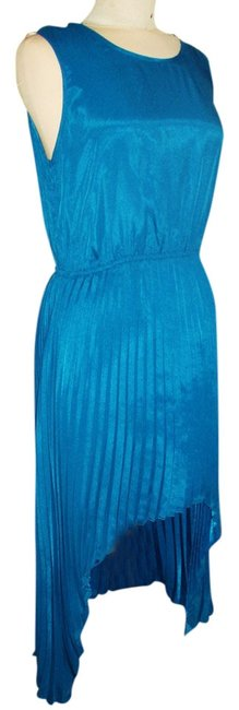 Item - Blue Above Knee Night Out Dress Size 12 (L)