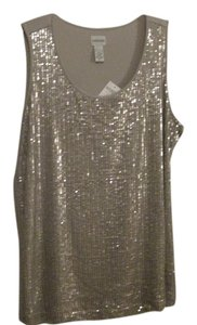 Chico's Vintage Sequin T Shirt VINTAGE TAUPE