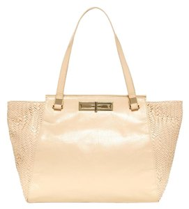 Elliott Lucca Leather Tote in Open White
