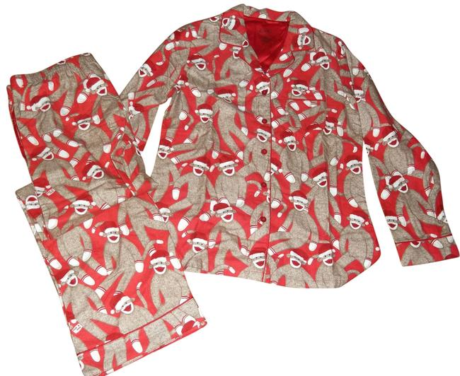 Preload https://item3.tradesy.com/images/nick-and-nora-red-white-and-brown-santa-sock-monkey-activewear-sportswear-size-12-l-32-33-1450337-0-1.jpg?width=400&height=650