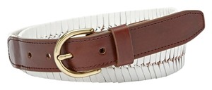 Fossil FOSSIL Leather Fishtail Braided Belt