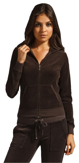 Item - Brown Velour Tracksuit Activewear Sportswear Size Petite 2 (XS)