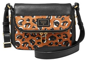 Fossil Leather One Calf Hair Black Small Cross Body Bag