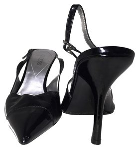 Guess Heels Pointed Toe Heels Slingback Formal Black Sandals