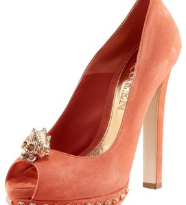 Alexander McQueen Creamy orange Platforms