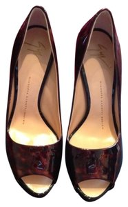 Giuseppe Brown Calf Sparkle Patent shoe Brown Platforms
