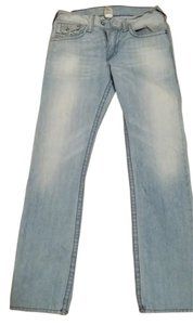 True Religion Men Light 32 Straight Leg Jeans-Light Wash