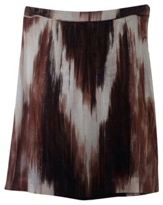 Burberry Ikat Skirt Brown