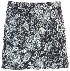Ralph Lauren Paisley Cotton Skirt Black