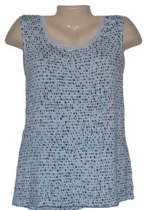 Covington Sleeveless Knit Polka Dot Top White