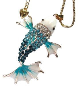 Betsey Johnson Betsey Johnson Swarovski Crystal Fish Pendant Necklace