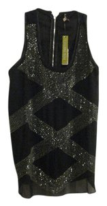 Gianni Bini Sequin Top BLACK WITH SILVER SEQUINS