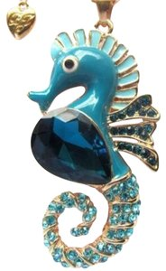 Betsey Johnson Betsey Johnson Swarovski Crystal Seahorse Pendant Necklace