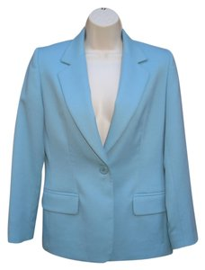 Pendleton Wool Petite Tiffany Onebutton Blue Blazer