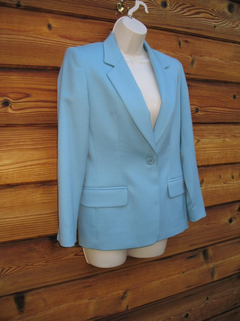 Pendleton Wool Petite Tiffany Onebutton Blue Blazer Image 1