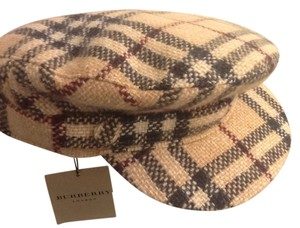 Burberry Brand New Burberry Wool and Cashmere Newsboy hat