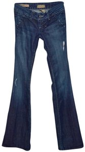 William Rast Blue Vintage Blue Denim Flare Leg Jeans