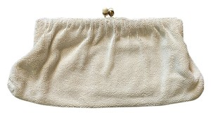 Other Vintage Hand Beaded White Clutch