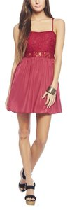 Wet Seal short dress Burgundy on Tradesy