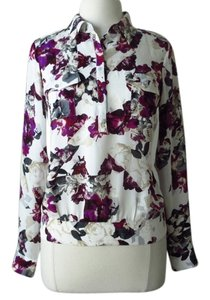 White House | Black Market Floral Shirt Floral Top