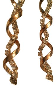 Rampage Swirl gold and crystal earrings