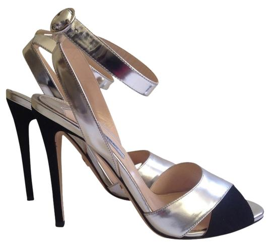 Preload https://item2.tradesy.com/images/prada-metallic-silverblack-leather-with-contrast-suede-sandals-pumps-size-us-75-regular-m-b-1450611-0-0.jpg?width=440&height=440
