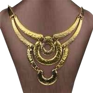 New York Jeweler Gold Bib Necklace