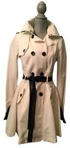 bebe Faux Leather Elegant Chic Trench Coat