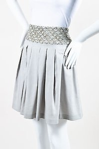 Alice + Olivia Taupe Silver Skirt Gray