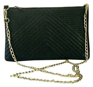 Crown Vintage Crossbody Goldtone black Clutch