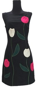 Moschino Retro Flowers Tulips Knee-length Dress