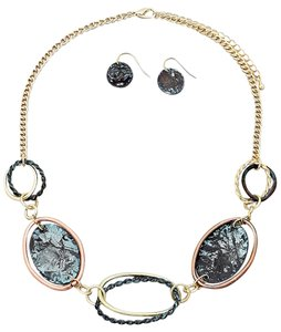 Patina Links Necklace and Earrings Set