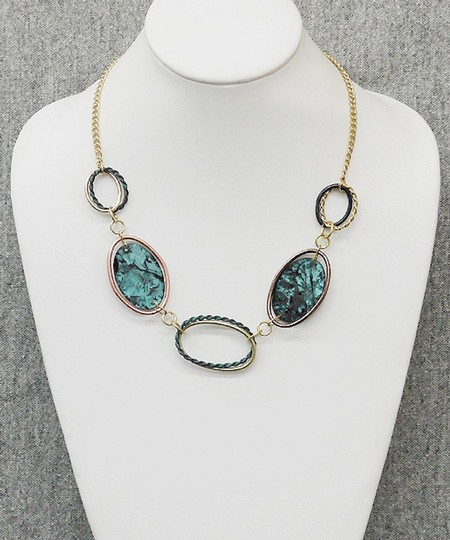 Other Patina Links Necklace and Earrings Set