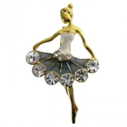 Gold Ballet Dancer Ballerina Vintage Dancer Tone Brooch/Pin