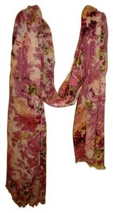 Other Linen/Cotton Pink Floral Scarf