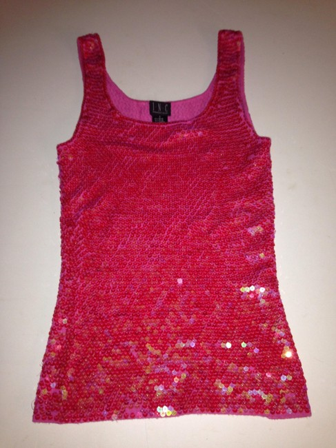 INC International Concepts Bling Pink Sequin Halter Top