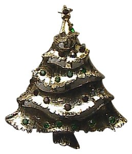 Vintage Fashion Christmas Tree Brooch