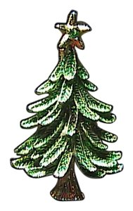 Vintage Gerry's Fashion Christmas Tree Brooch