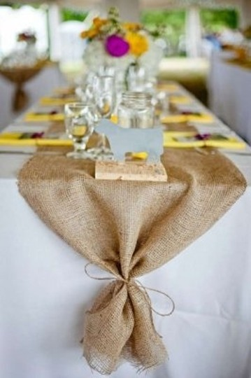 Tan Lot Of 10 Burlap Table Runners 14 Inch X 72 Inch Natural Jute Wholesale Burlap Table Runners Wholesale Jute Table Free Reception Decoration