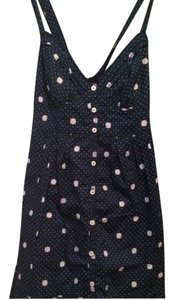 Hollister short dress Blue & White Polka Dot on Tradesy