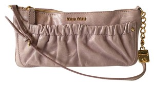 Miu Miu Gold Leather Purse Shoulder Bag