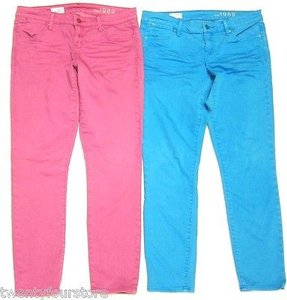 Gap Womens Lot Of 1969 Always Skinny Colored Blue Magenta R Skinny Jeans