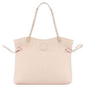 Tory Burch Satchel in Light Oak Beige Pink