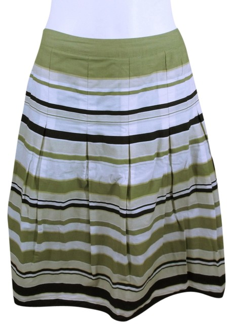 Item - Green Stripped A-line Skirt Size 6 (S, 28)