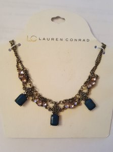 LC Lauren Conrad Vintage Style Wedding Necklace Blue And Pink