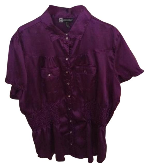 Jou Jou Dress Shirt Nite Out Button Down Shirt Purple