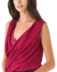 Diane von Furstenberg Top Dark raspberry