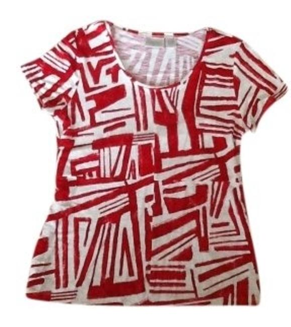 Chico's Zynergy/Chicos T Shirt Red and white