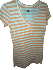 BDG T Shirt white, orange, pink